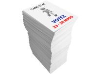 Bulletins de vote A4 21 x 297 cm